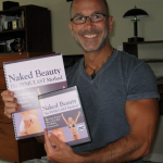 joey holding new DVD and book set naked beauty symulast method